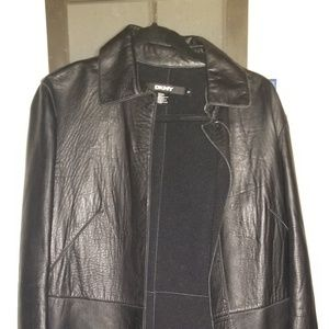 Vintage DKNY Leather Trench coat
